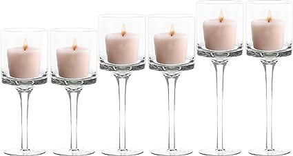 Bougeoir à 4 bougies en verre pour bougie chauffe-plat avec support de