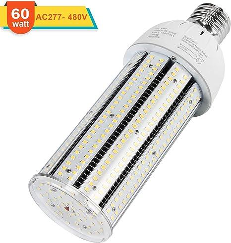 LED Corn Lamp Retrofit Bulb 2 Pack 60Watt 5000k E39 Mogul Base 400w Metal Halide