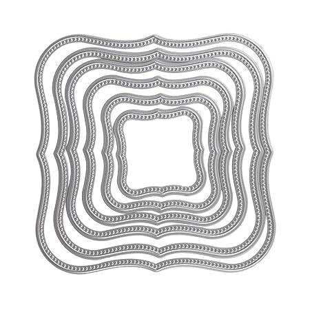 6Pcs/set Wavy Square Frames Cutting Dies Stencils for DIY ...