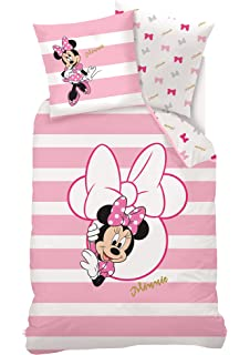 Disney Juego de Ropa de Cama Minnie Mouse, algodón, Rosa, 140 x 200