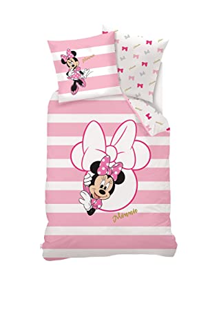 Disney Bettwasche Minnie Mouse Baumwolle Rosa 140 X 200 Cm