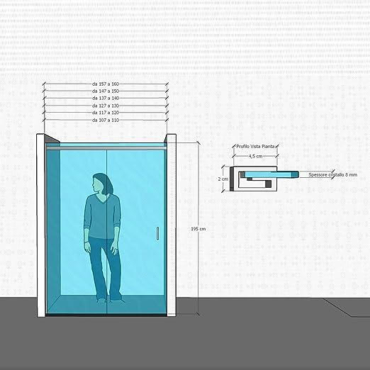 Olimpo duchas mit-100 8 mm Frame Less sin perfiles diseño puerta ...