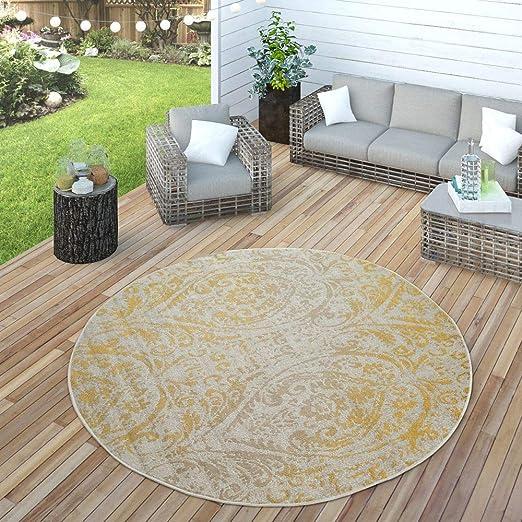polyserter outdoor teppich rund