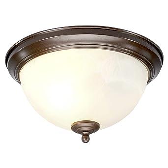 Lampenwelt Deckenlampe Corvin Dimmbar Modern In Braun Aus Metall