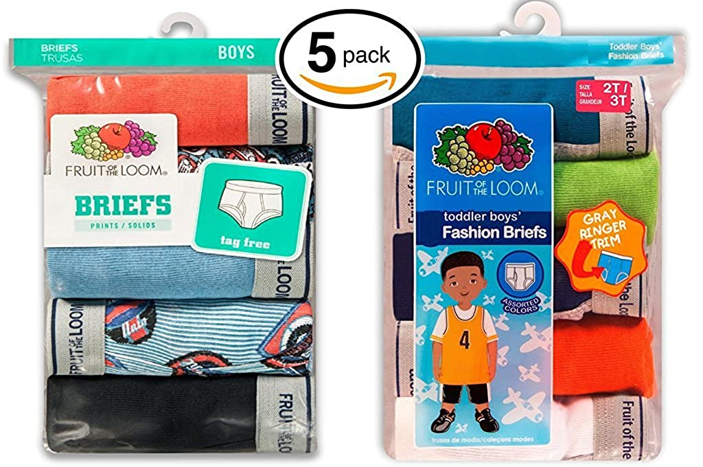 Amazon Fruit Of The Loom Boys Fashion Brief Pack Of 5 Clothing