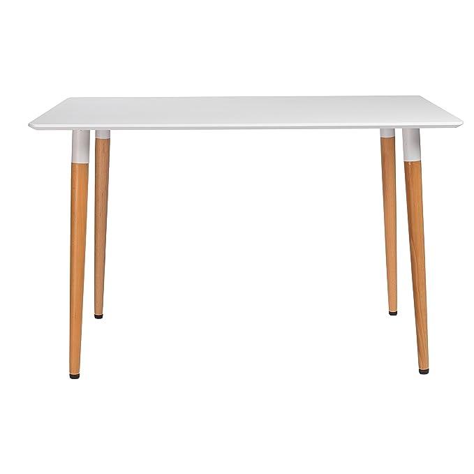 Amazon.com: eurø estilo 17697 wht-kit Rufus mesa de comedor ...