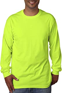 product image for Bayside Adult Long Sleeve Tee-M (Lime)