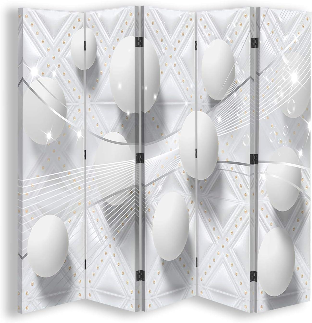 Feeby Foto Biombo Bala 5 Paneles Unilateral Abstracto Blanco 180x170 cm: Amazon.es: Hogar