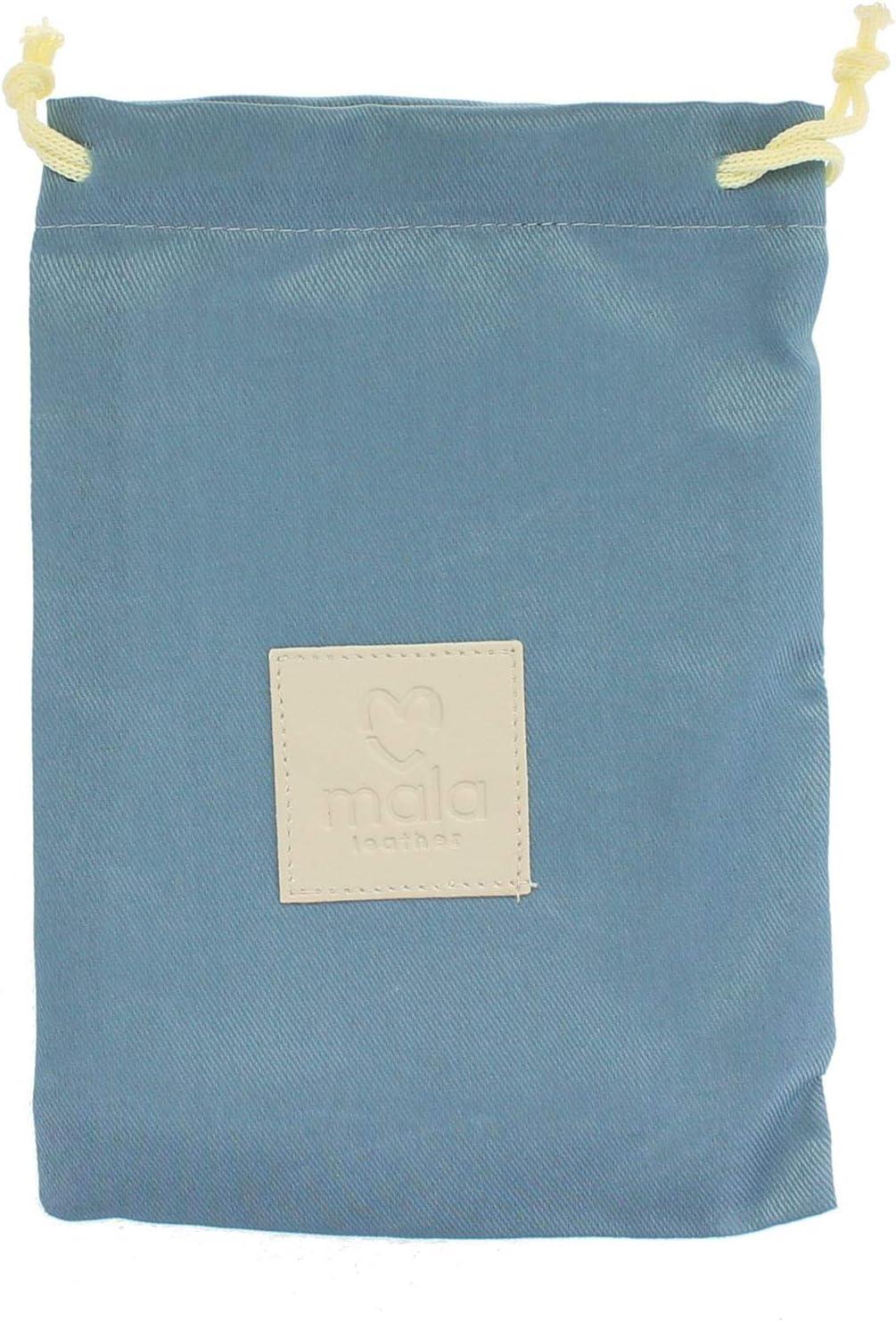 Mala Leather Collection OLLIE Porte-monnaie pour Pi/èces avec Porte-cl/é et Protection RFID 4150/_3 Bleu