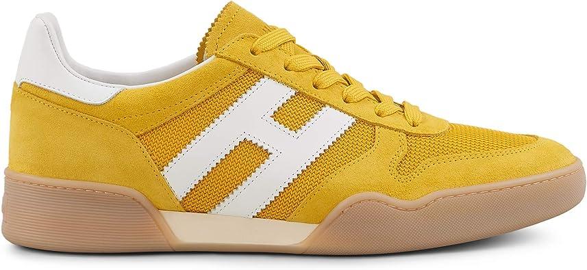 Hogan H357 Zapatillas de Hombre HXM3570AC40KFE01AK Zapatillas Running Deportivas de Piel Amarilla Amarilla Blanca Negra Calzado Paseo Casual Shoes cómodas Nuevas Amarillo Size: 10: MainApps: Amazon.es: Zapatos y complementos