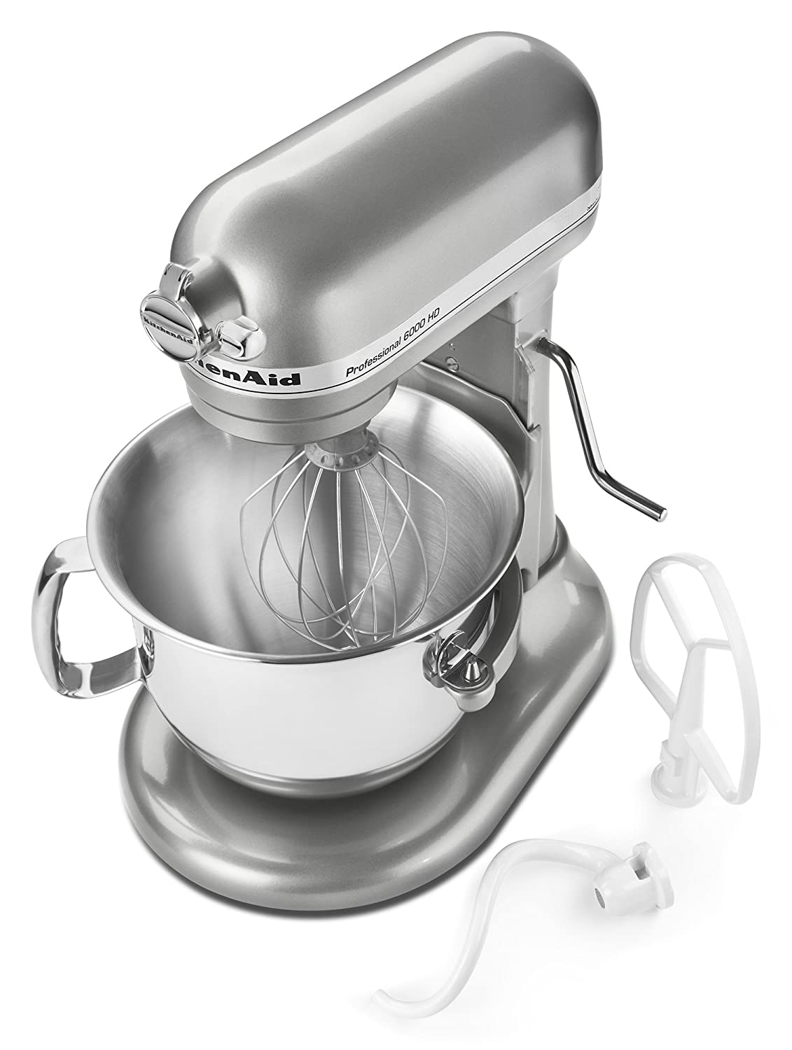 KitchenAid KSM6573CCU KitchenAid KSM6573CCU 6-Qt. Professional 6000 HD Bowl-Lift Stand Mixer- Contour Silver, Contour Silver by KitchenAid: Amazon.es: Hogar