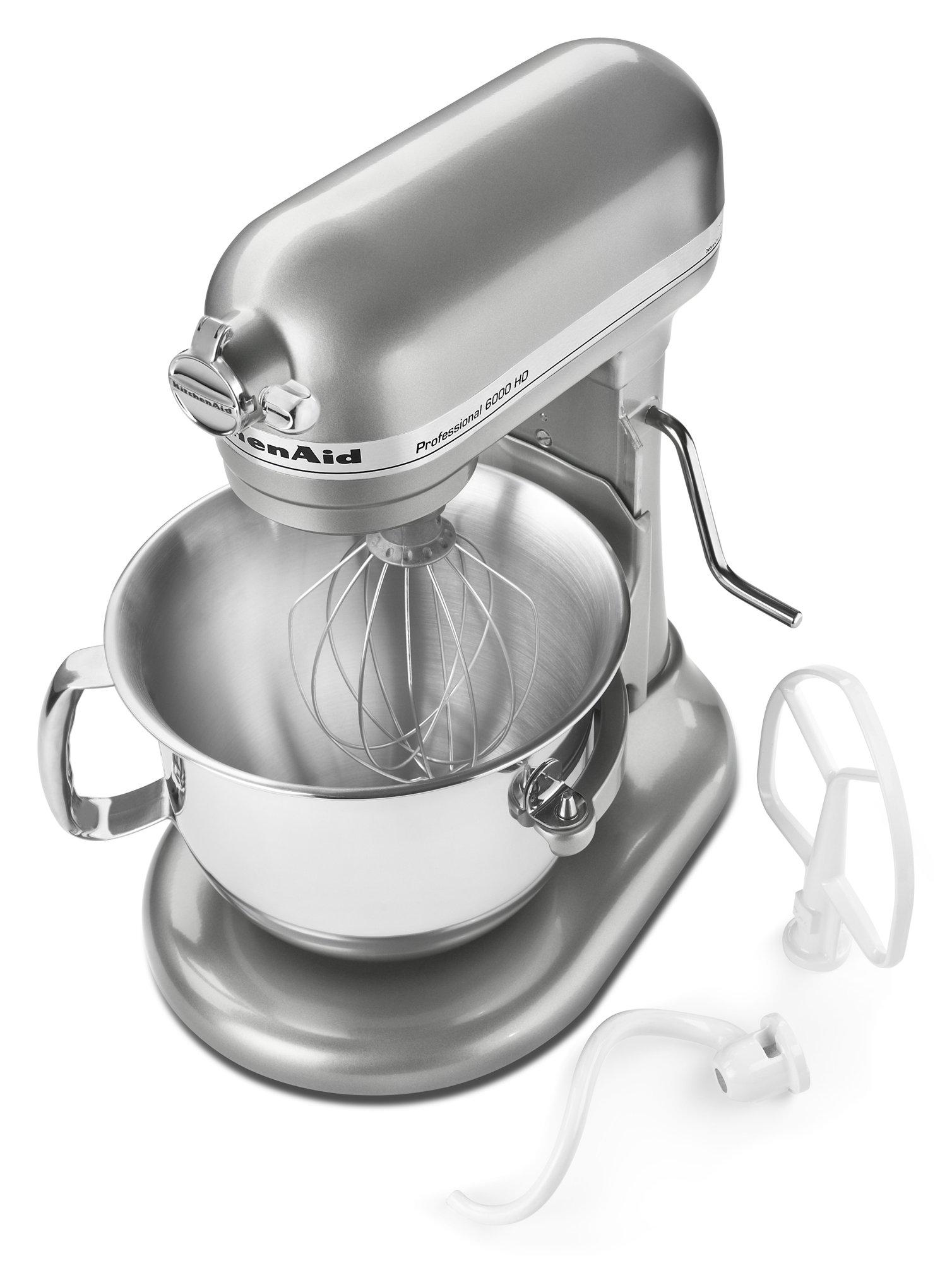KitchenAid Professional 6000 HD KSM6573CCU Stand Mixer, 6 Quart, Contour Silver by KitchenAid (Image #2)