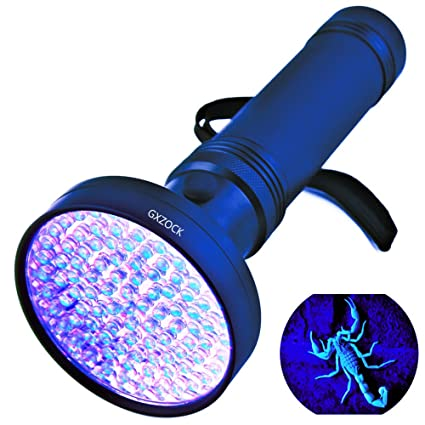 Linterna ultravioleta con luz negra UV, super brillante, 100 LED, mejor potente,