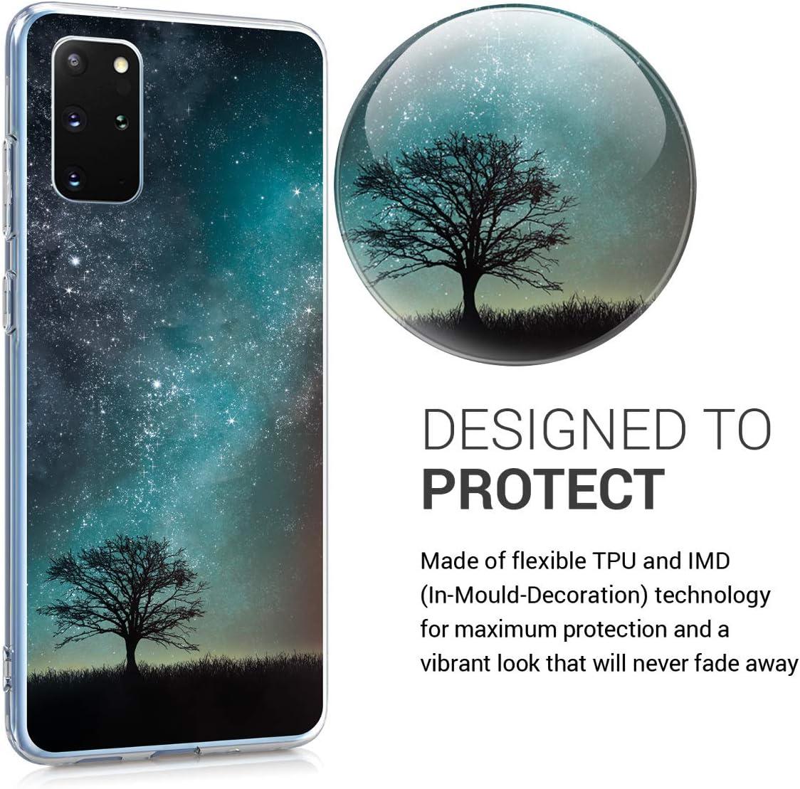 Carcasa de TPU Hada Brillante en Dorado//Transparente kwmobile Funda Compatible con Samsung Galaxy S20 Plus