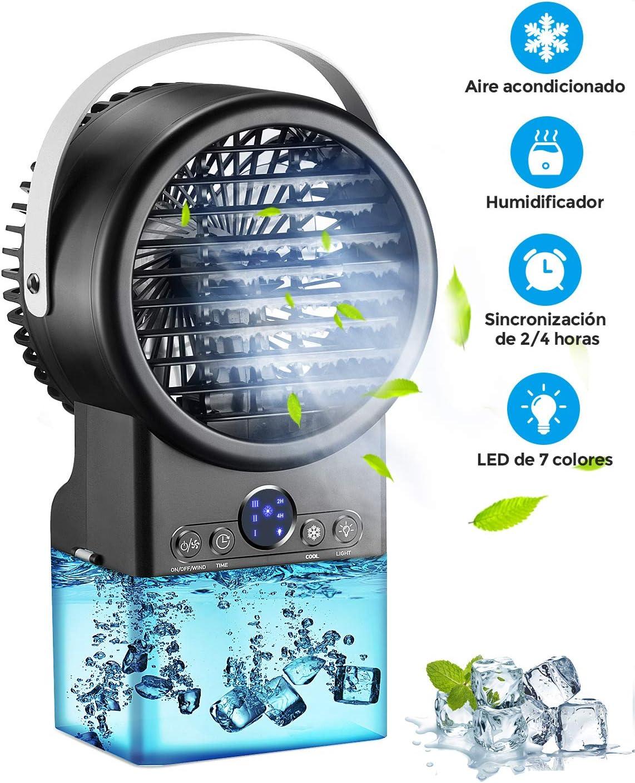 ventilador con agua portable