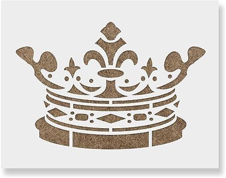 Craft Stencil Airbrush Card making Crown stencil Crown Stencil