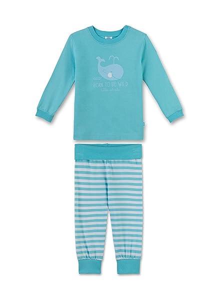 Sanetta 221295, Conjuntos de Pijama Unisex Bebé, Turquesa (Caribian Blue), 80