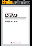 バッハ,シンフォニア/BWV787-801 3線譜,クロマチックノーテーション