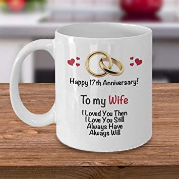 Amazoncom 17th Anniversary Gift Ideas For Wife 17th Wedding