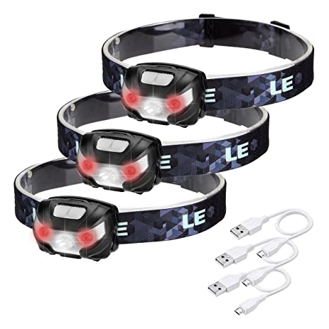 Le Rechargeable Led Headlamp 5 Lighting Modes Lightweight