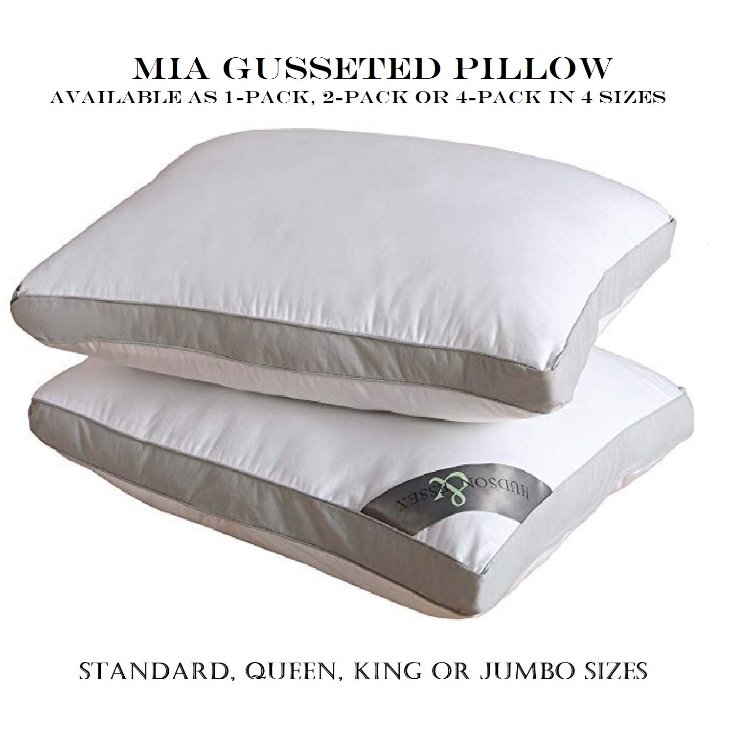 VCNY Home Mia Poly Fill Sleeping Pillow, 20x26, White