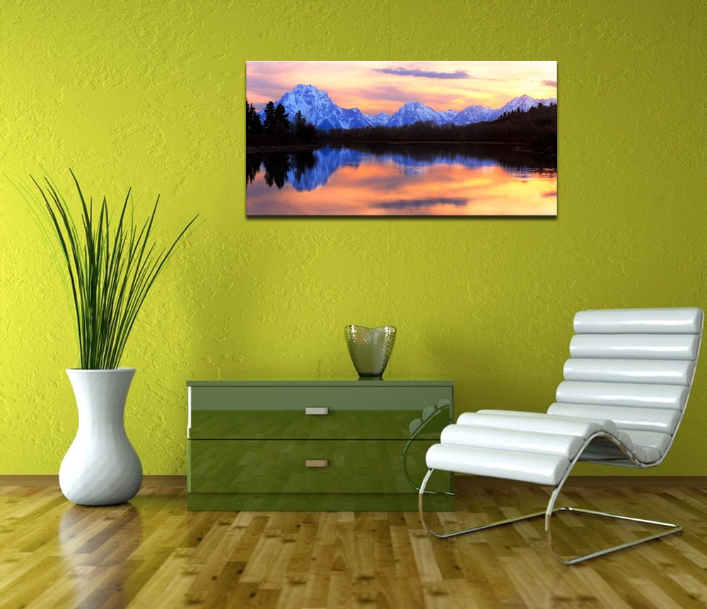 Live Art Decor - Grand Teton National Park Landscape Canvas Wall Art ...