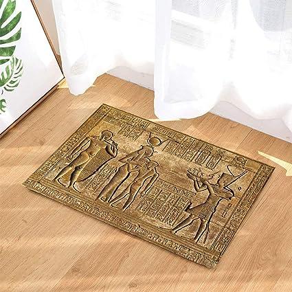Amazon.com: Retro Decor Bath Rugs By CdHBH Ancient Egypt Nobility ...