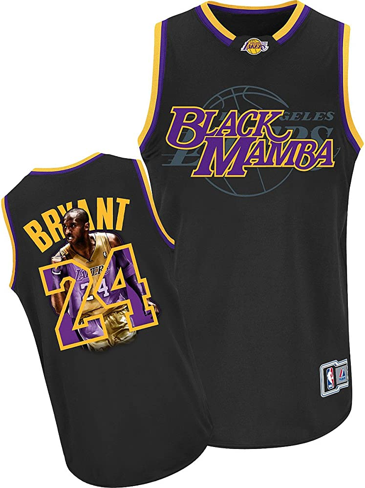 Amazon Com Nba Men S Los Angeles Lakers Kobe Bryant 24 Notorious Jersey Black Purple Gold Large Sports Fan Jerseys Clothing