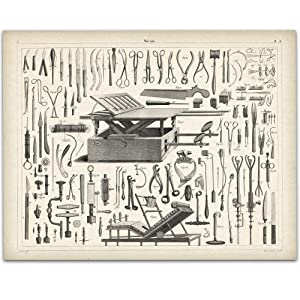 Vintage Medical Instruments - 11x14 Unframed Art Print - Great Gift For Doctors and Nurses