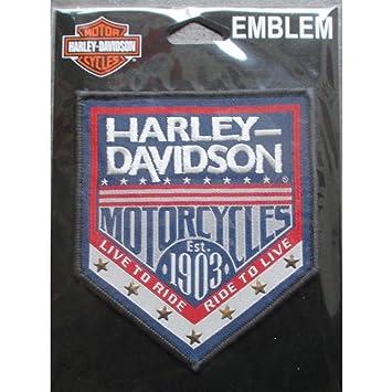 hotrodspirit Patch Harley Davidson est 1903 azul escudo ...