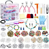 Jewelry Making Kit, 1960 Pieces Jewelry Making Supplies for Bracelets Includes PP OPOUNT Beads, Charms, Findings…