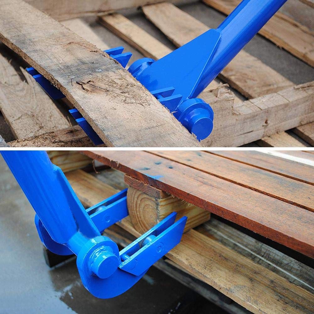 Pallet Breaker Deck Wrecker Demolition Crowbar Blue Yaheetech Pallet Buster Tool Pallet Pry Bar