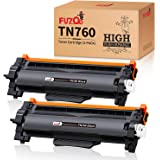 FUZOO Compatible TN760 Toner Replacement for Brother TN760 TN-760 TN730 High Yield with Chip for HL-L2350DW HL-L2390DW…