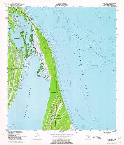 Amazon.com : YellowMaps False Cape FL topo map, 1:24000 ...
