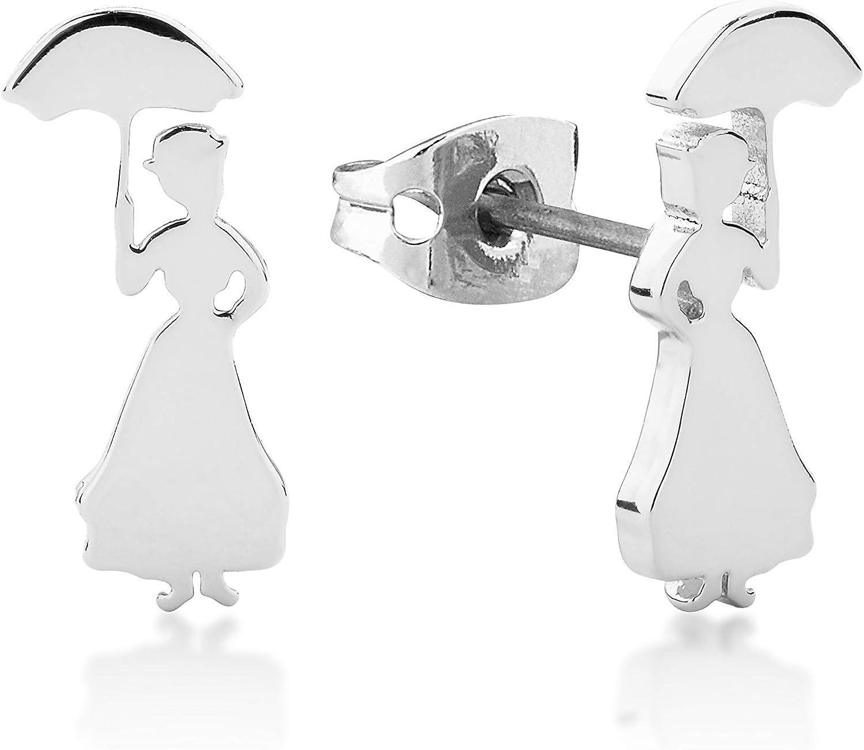 Couture Kingdom - Pendientes de tuerca, diseño de silueta de Mary Poppins de Disney