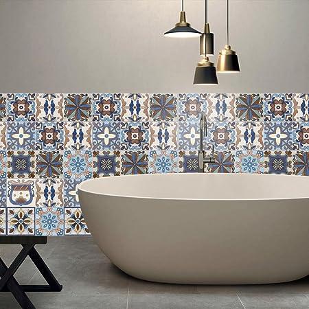 Indexp Diy Tile Stickers 25pcs Retro Waterproof Self Adhesive