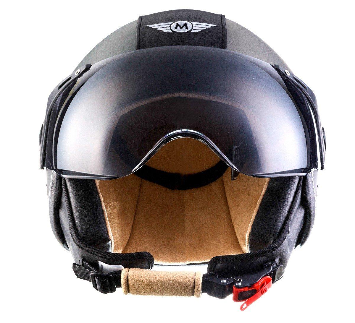 Amazon.es: Moto Helmets H44 - Helmet Casco de Moto, Gris/Negro, M (57-58cm)