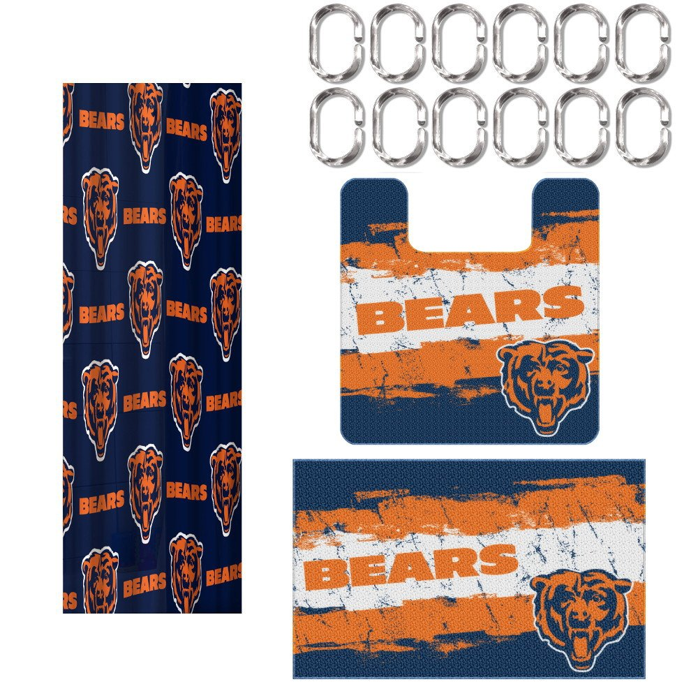Chicago bears bathroom accessories - Amazon Com The Northwest Company Chicago Bears 15 Piece Bath Set Health Personal Care