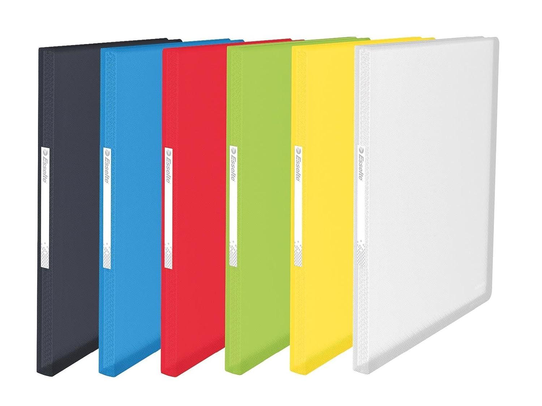 Esselte Raccoglitore di cartelline A4, buste trasparenti, copertina flessibile, colori Assortiti, gamma Vivida 100 fundas multicolore 624009