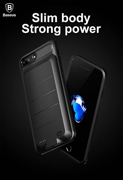 new arrival a0c90 28128 Baseus 3650 mAh Battery Case For iPhone 7 Plus and iPhone 8 Plus Extended  Power Bank Case 3650mAh Charger Case 5.5 Inch - New Lighter Model