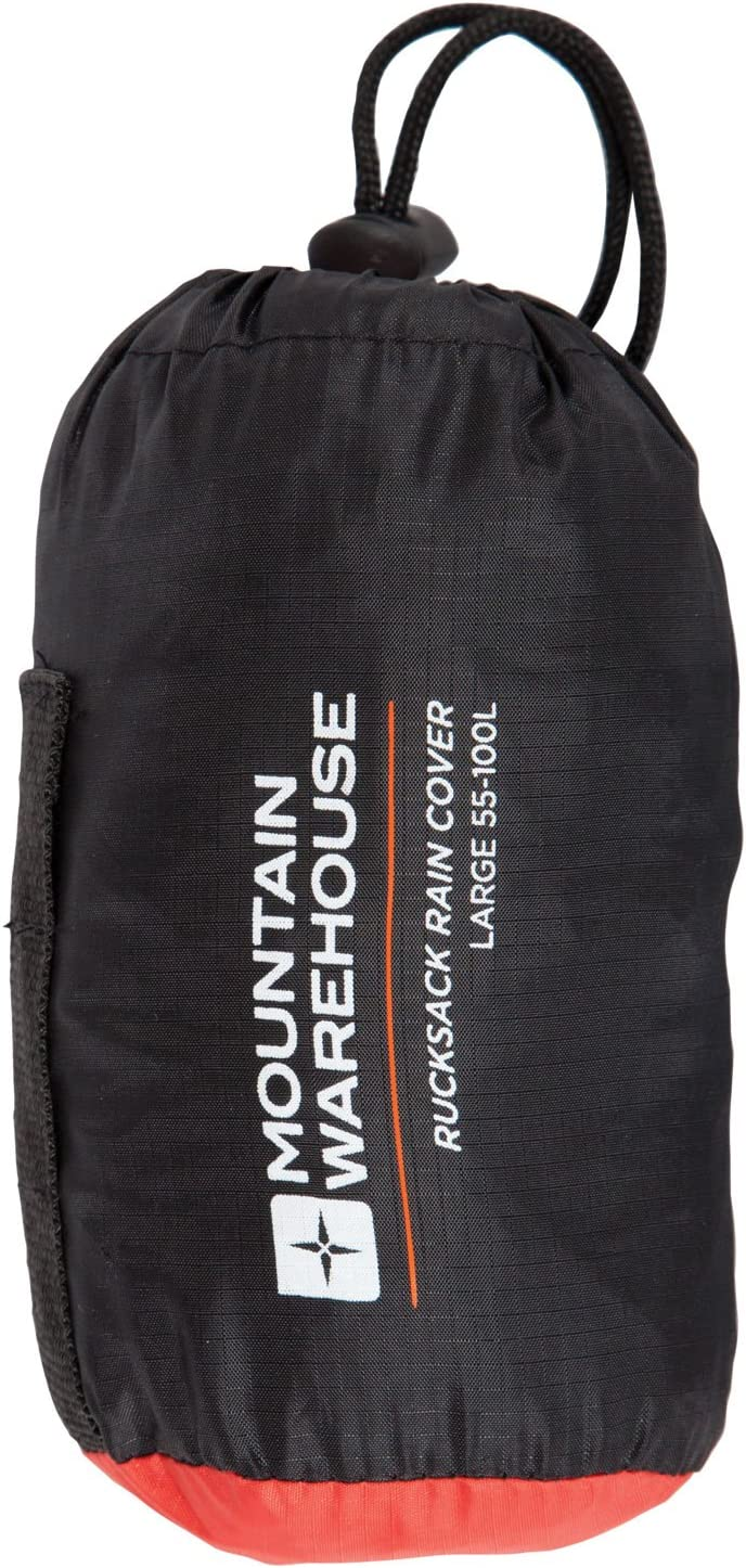 Mountain Warehouse Rucksack Rain Cover in Orange with Drawstring Bag-One Size