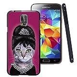 Galaxy S5 Case Black Customized Black Soft Rubber