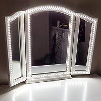 Led-spiegellamp, ledstrip van 4 m, 6000 K, dimbaar, voor make-upspiegels, make-uplicht, spiegel niet inbegrepen