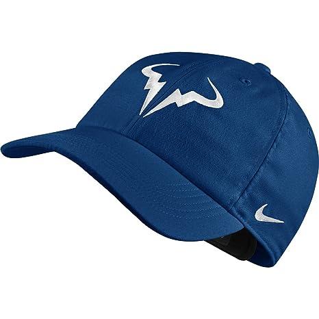 Amazon.com  NIKE Unisex Aerobill Rafa Nadal Hat (Blue Jay White)  Sports    Outdoors 9dd1a291d96