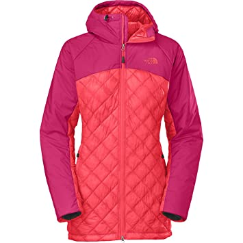 the north face women s thermoball duo hooded parka rambutan pink rh amazon ca