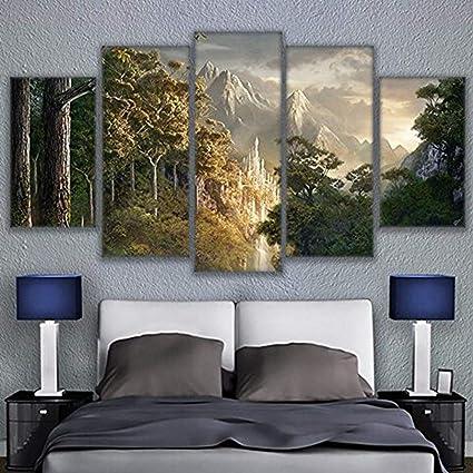 Amazon.com: JESC Painting Printed Modular Paintings 5 Panel ...