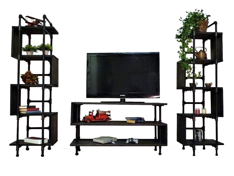 Amazon com furniture pipeline tucson modern industrial entertainment center kitchen dining
