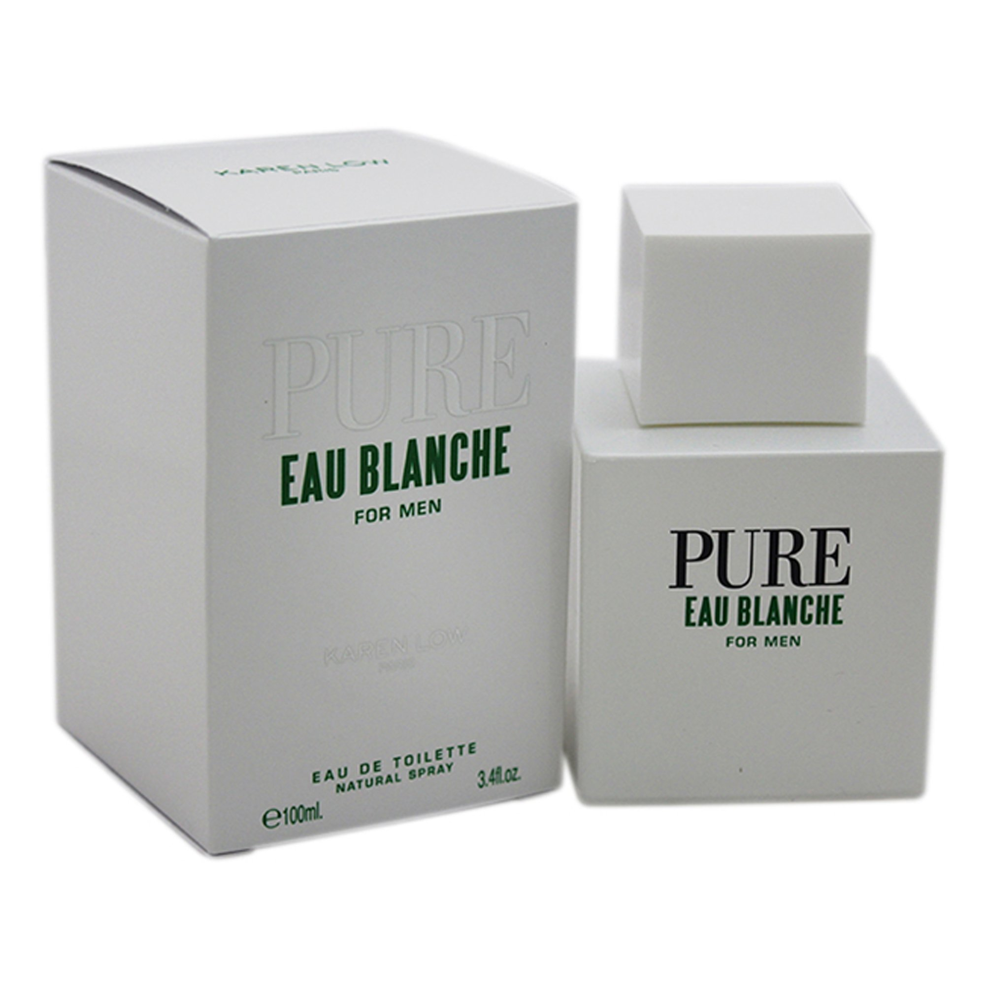 Karen Low Pure Eau Blanche Low Mens Edt Spray, 3.4 Ounce