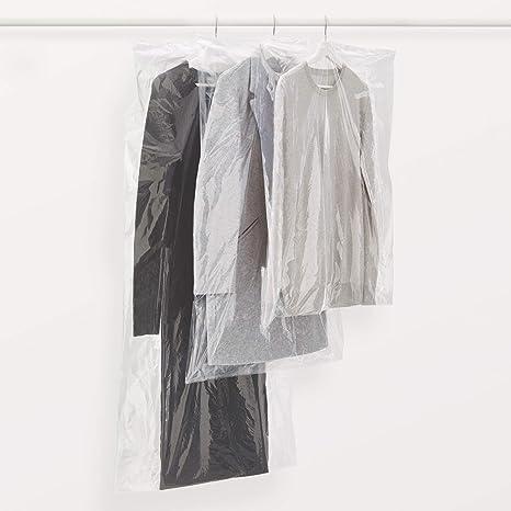 Rayen - Funda de ropa para armario. Pack de 3 bolsas transperentes para guardar ropa. Protectores de ropa antipolvo. 65 x 150 cm. Transparente
