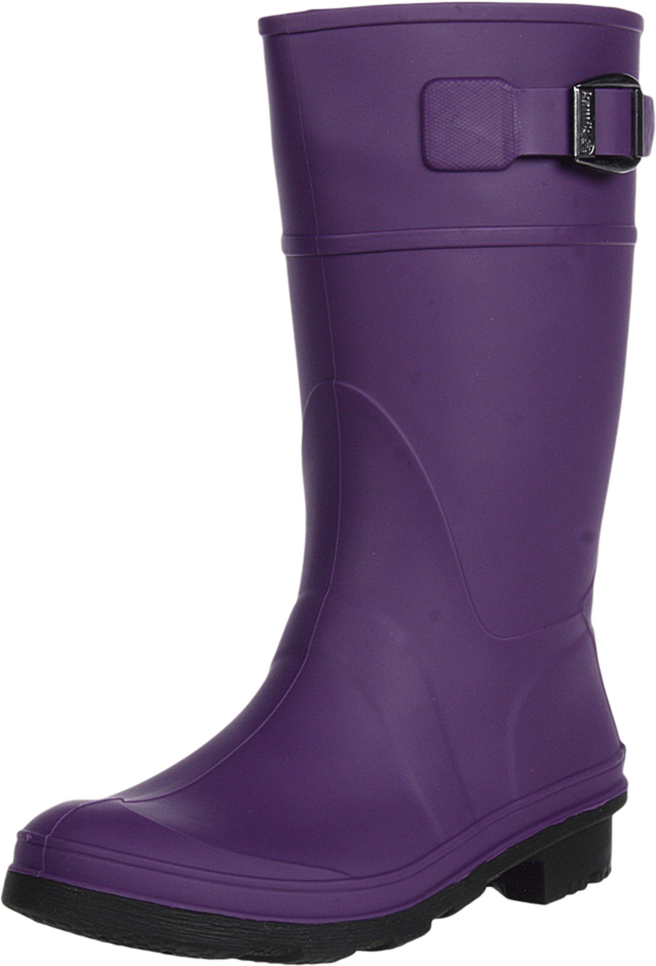 Kamik unisex-child Raindrops Rain Boot,Eggplant,4 M US Big Kid